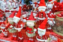 Ejemplo de la Navidad de muñecas imagen de archivo