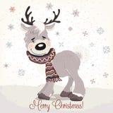 Ejemplo de la Navidad o del Año Nuevo con los ciervos lindos libre illustration