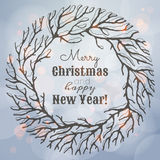 Ejemplo de la Navidad y del Año Nuevo con la guirnalda Foto de archivo