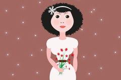 Ejemplo de la novia Fotos de archivo