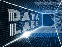 Ejemplo de la nube 3d de Digitaces Datacenter del lago data stock de ilustración