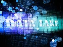 Ejemplo de la nube 3d de Digitaces Datacenter del lago data ilustración del vector