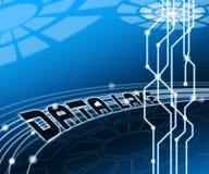 Ejemplo de la nube 3d de Digitaces Datacenter del lago data libre illustration