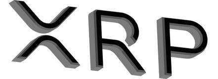 Ejemplo de la ondulación XRP 3d ilustración del vector