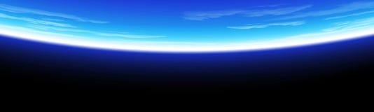 Ejemplo de la opinión del espacio del horizonte de la tierra stock de ilustración