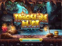 Ejemplo de la pantalla de la bota para jugar caza del tesoro Foto de archivo libre de regalías