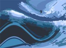 Ejemplo de la persona que practica surf Fotos de archivo