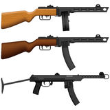Pistola de máquina stock de ilustración