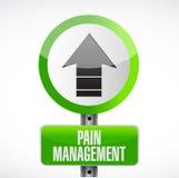 ejemplo de la placa de calle del camino de la gestión del dolor Imagen de archivo libre de regalías