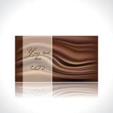 Plantilla de la tarjeta del chocolate Imagen de archivo