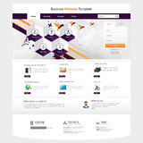 Ejemplo de la plantilla del sitio web con los elementos abstractos Imágenes de archivo libres de regalías