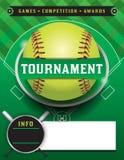 Ejemplo de la plantilla del torneo del softball Imagen de archivo libre de regalías