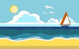Ejemplo de la playa del verano Imagen de archivo
