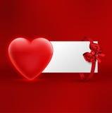 Ejemplo de la postal del día de tarjetas del día de San Valentín Imagen de archivo