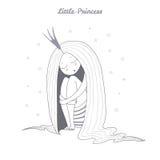 Ejemplo de la princesa el dormir ilustración del vector