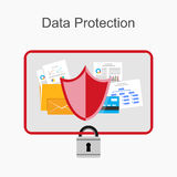 Ejemplo de la protección de datos Imagenes de archivo