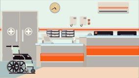 Ejemplo de la recepción del hospital ilustración del vector
