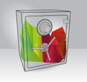 Ejemplo de la reserva con los elementos 3d Imagenes de archivo
