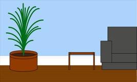 Ejemplo de la sala de estar para el diseño interior Fotografía de archivo
