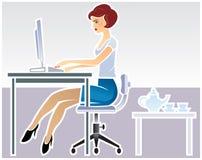Ejemplo de la secretaria Imagen de archivo libre de regalías