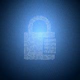 Ejemplo de la seguridad del concepto Imágenes de archivo libres de regalías
