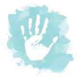 Ejemplo de la silueta de la mano Fotos de archivo libres de regalías