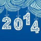 Ejemplo de la tarjeta de la Feliz Año Nuevo Imagen de archivo libre de regalías