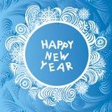 Ejemplo de la tarjeta de la Feliz Año Nuevo Fotos de archivo libres de regalías