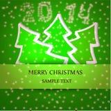 Ejemplo de la tarjeta de Navidad Fotografía de archivo libre de regalías
