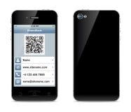 Ejemplo de la tarjeta de visita de Smartphone Imagen de archivo libre de regalías