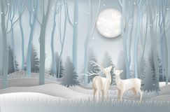 Ejemplo de la tarjeta de felicitación del día de la Feliz Navidad y del Año Nuevo c stock de ilustración