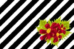 Ejemplo de la tarjeta de la flor libre illustration