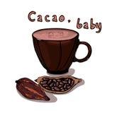 Ejemplo de la taza del cacao Imágenes de archivo libres de regalías