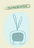 Ejemplo de la televisión Foto de archivo libre de regalías