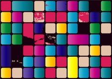 Ejemplo de la textura abstracta con los cuadrados Modele el diseño para la bandera, cartel, aviador, cubierta Foto de archivo