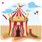 Ejemplo de la tienda de circo Fotografía de archivo libre de regalías