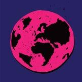 Ejemplo de la tierra del planeta fotos de archivo