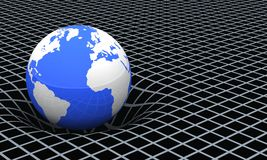 Tierra y campo gravitacional   Fotografía de archivo