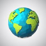 Ejemplo de la tierra en estilo polivinílico bajo Foto de archivo libre de regalías