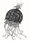 Ejemplo de la tinta de las medusas Foto de archivo