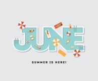 Ejemplo de la tipografía de la fiesta en la piscina libre illustration