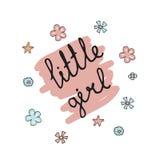 Ejemplo de la tipografía de la niña Foto de archivo libre de regalías