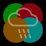 Ejemplo de la tormenta del tiempo, s?mbolo de la lluvia del sol ilustración del vector
