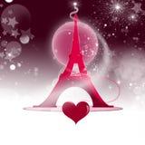 Ejemplo de la torre Eiffel Imágenes de archivo libres de regalías