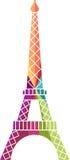 Ejemplo de la torre Eiffel Imagen de archivo libre de regalías
