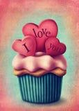 Ejemplo de la torta de la taza Imagenes de archivo