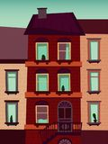 Ejemplo de la trama de la construcción de viviendas de Catroon Fotografía de archivo libre de regalías