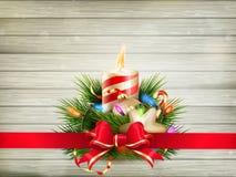 Ejemplo de la vela de la Navidad EPS 10 Foto de archivo