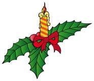 Ejemplo de la vela de Navidad Imagenes de archivo