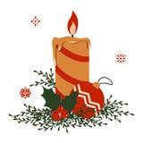 Ejemplo de la vela de la Navidad Fotos de archivo libres de regalías